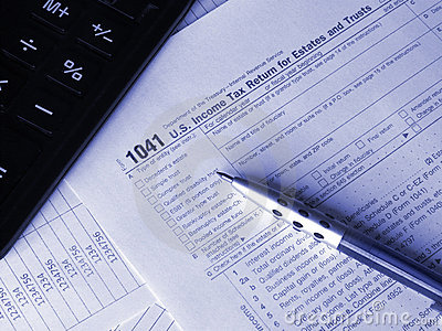 image of a 1041 Business tax form